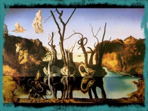 Dali, Swans Reflecting Elephants, 1937